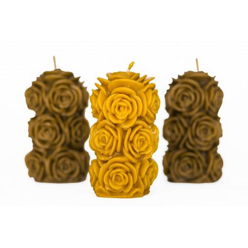 Świeca róże duża